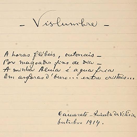 Poema escrito por Mário de Sá-Carneiro em Camarate